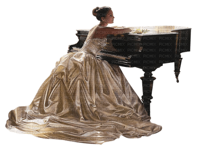 Kaz_Creations Woman Femme Piano Music