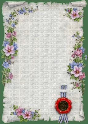 parchemin  blanc et fleur