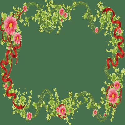 cadre rouge fleurs deco red frame