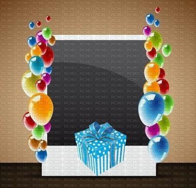image encre bon anniversaire color effet ballons cadeau  edited by me