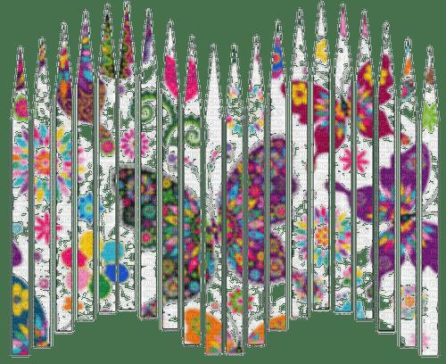 rfa créations - slats fleurs et papillons