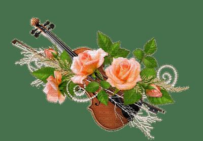 Flower, Flowers, Violin, Peach, Deco, Decoration - Jitter.Bug.Girl