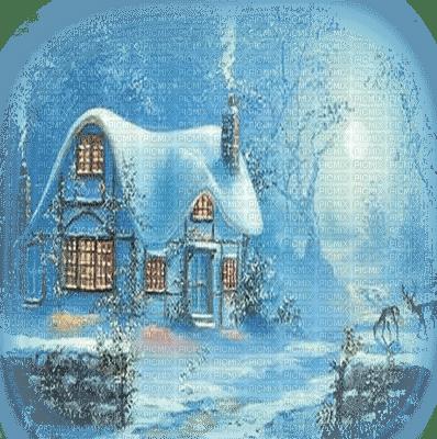 maison hiver paysage winter house