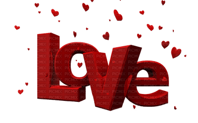 love text red deco