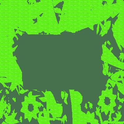 cadre vert transparent frame green