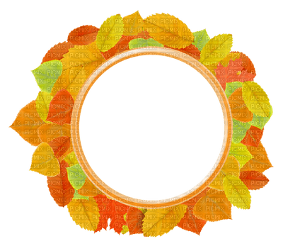 Kaz_Creations Autumn Fall Leaves Leafs Background Frame