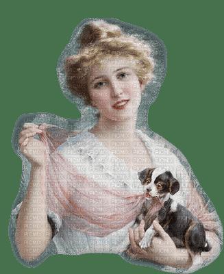 Kaz_Creations Woman Femme Dog Pup Vintage