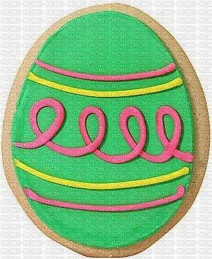 le petit gâteau Pâques la jolie fille