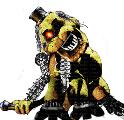 Withered Golden Freddy Old Gold FNAF Five