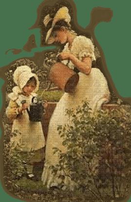 vintage family garden famille jardin