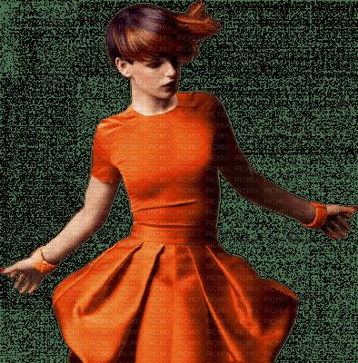 femme orange woman orange
