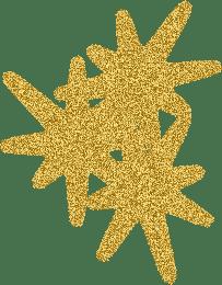 Kaz_Creations Gold Deco Stars