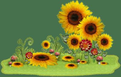 image encre paysage fleurs tournesol la nature effet edited by me ...