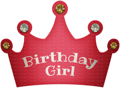 Kaz_Creations Birthday Party Hat Text Birthday Girl