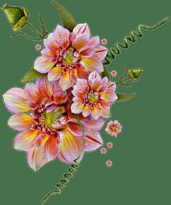 image encre couleur fleurs printemps pastel coin ornement edited by me