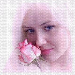 chica con rosa