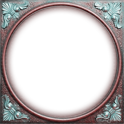 soave frame circle vintage steampunk pink teal