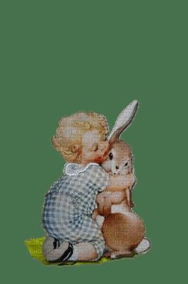 lapin et bébé