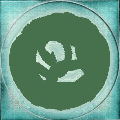 blue green circle frame cadre