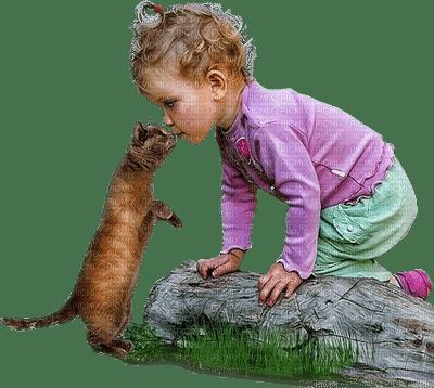 child spring cat enfant chat