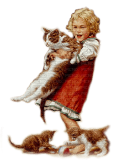 child cats enfant chat