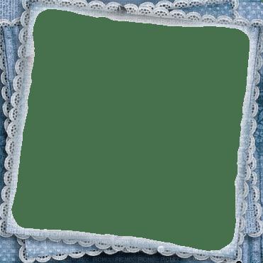 blue lace frame cadre bleu dentelle