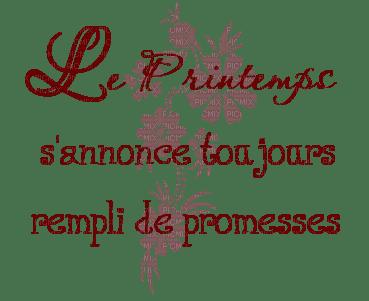 """""""Le Printemps s'annonce toujours rempli de promesses"""