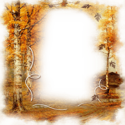 automne foret cadre autumn forest  frame