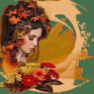autumn woman deco