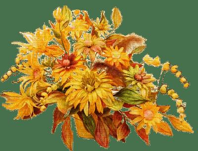 Déco fleurs ocre