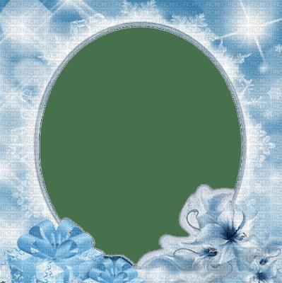 blue flower frame cadre bleu fleur
