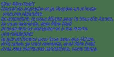 Deko Pelageya Texte Lettre Pour Le Père Noël Picmix