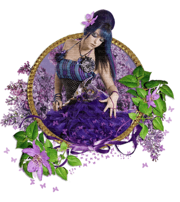 Kaz_Creations Deco Woman Femme Purple