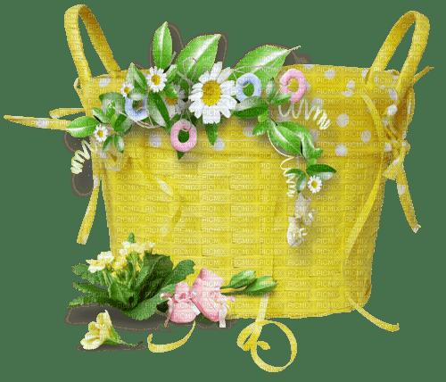 flower tube decoration flower basket_fleur tube décoration panier de fleurs
