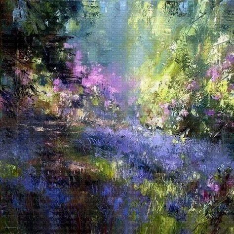 fond background landscape paysage garden jardin spring art garten