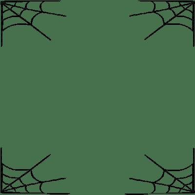 halloween spider web frame cadre