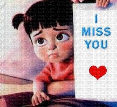 Kazcreations Girl Cartoon Text I Miss You Kazcreations Girl