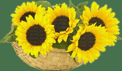 sunflower basket panier tournesol