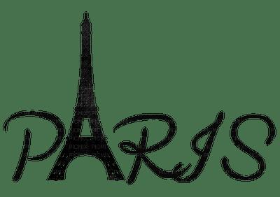 Black Text Paris