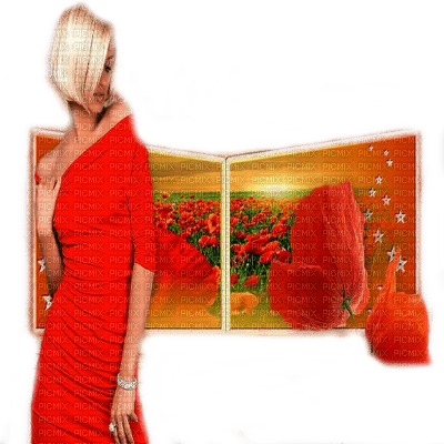 femme coquelicot woman poppy flowers