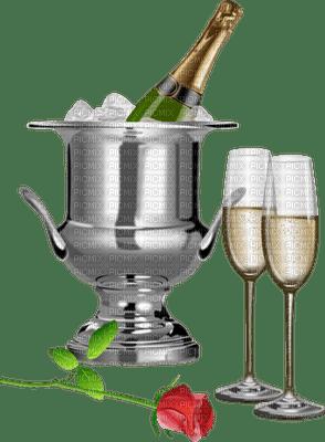 Kaz_Creations Champagne Glasses Flutes Rose Flower