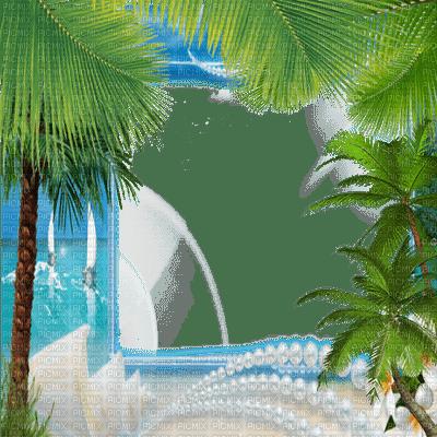 summer palm tree 🌴 frame êtê   cadre palmier