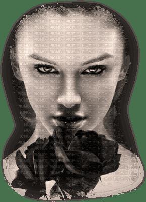 femme-roses-noires