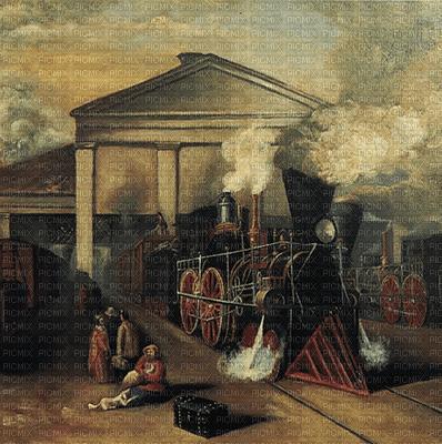 train station vintage paintinglounge