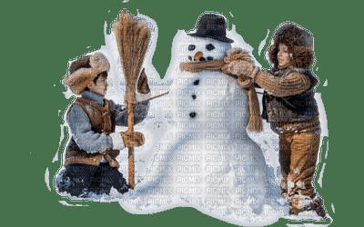 winter childs snowman enfants hiver