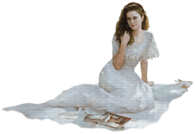 vintage lady sitting Joyful226