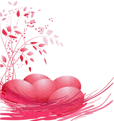 red hearts deco red branch rouge coeur rouge branche