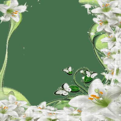 WHITE FLOWER FRAME, FLOWER FRAME - PicMix