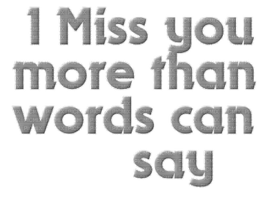 Kaz_Creations Text I Miss You More Than Words Can Say
