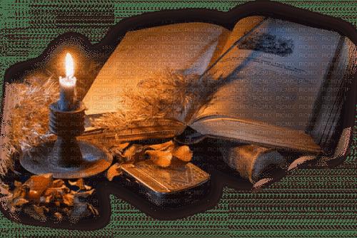 autumn book candle  deco automne livre bougie